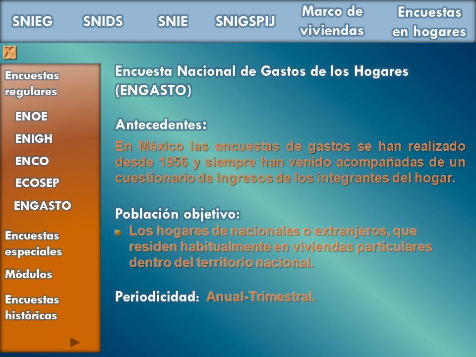 Encuesta Nacional de Gastos de los Hogares (ENGASTO)