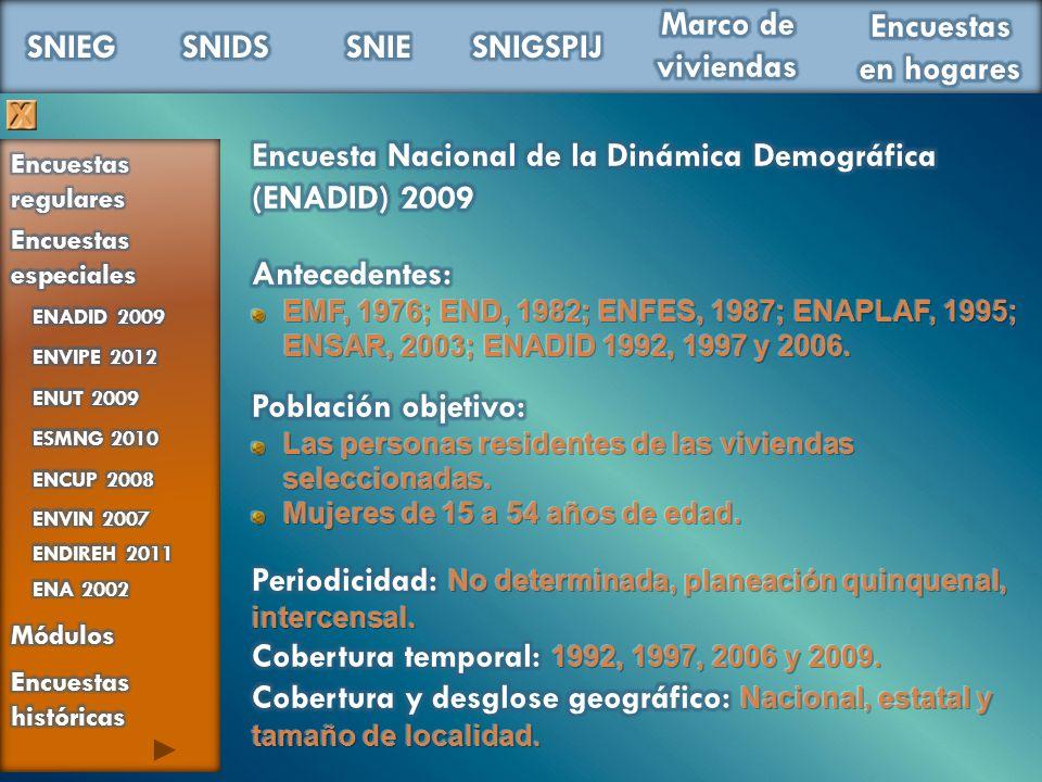 Encuesta Nacional de la Dinámica Demográfica (ENADID) 2009