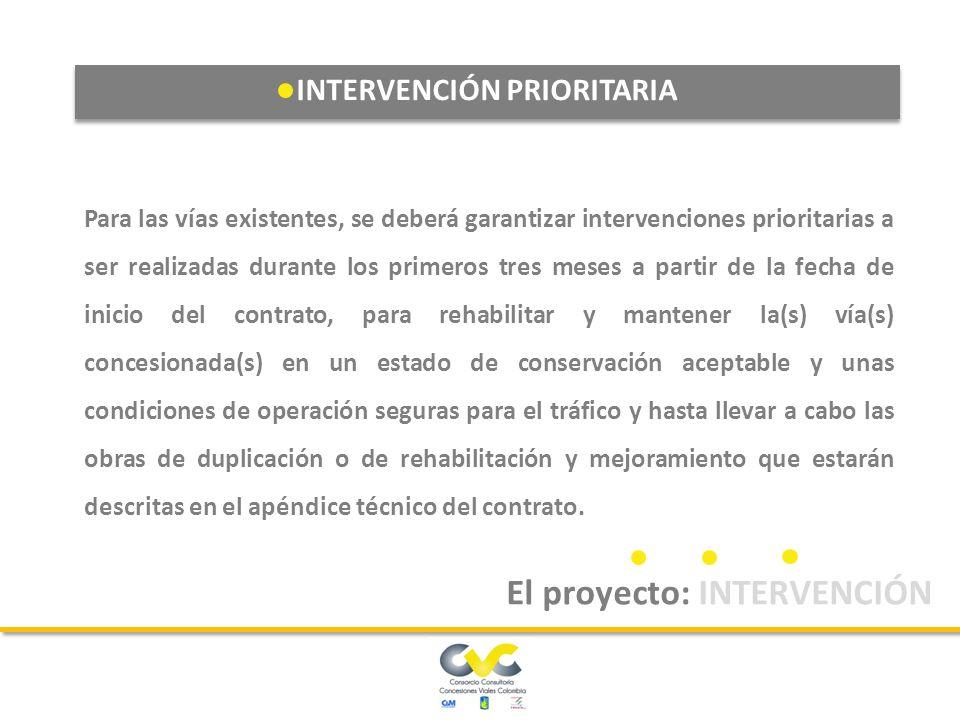 INTERVENCIÓN PRIORITARIA El proyecto: INTERVENCIÓN