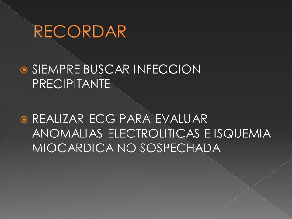 RECORDAR SIEMPRE BUSCAR INFECCION PRECIPITANTE