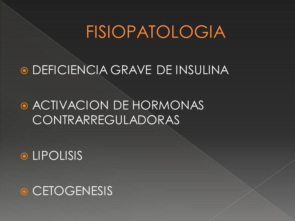 FISIOPATOLOGIA DEFICIENCIA GRAVE DE INSULINA