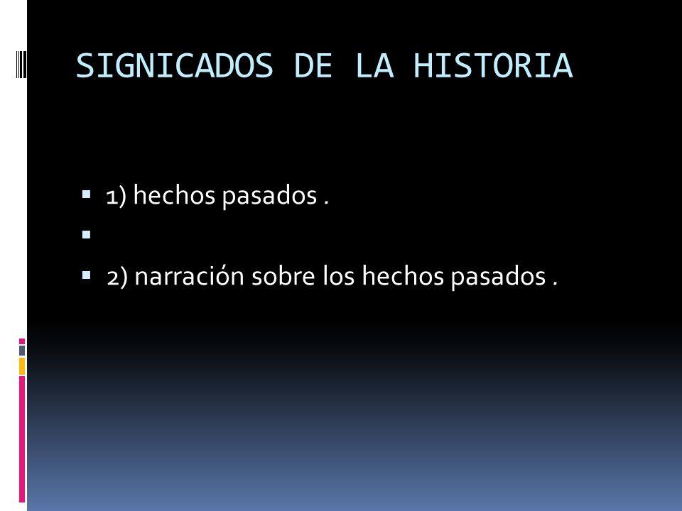 SIGNICADOS DE LA HISTORIA