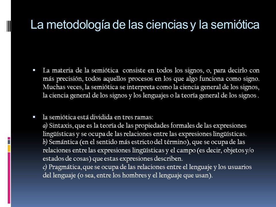 La metodología de las ciencias y la semiótica