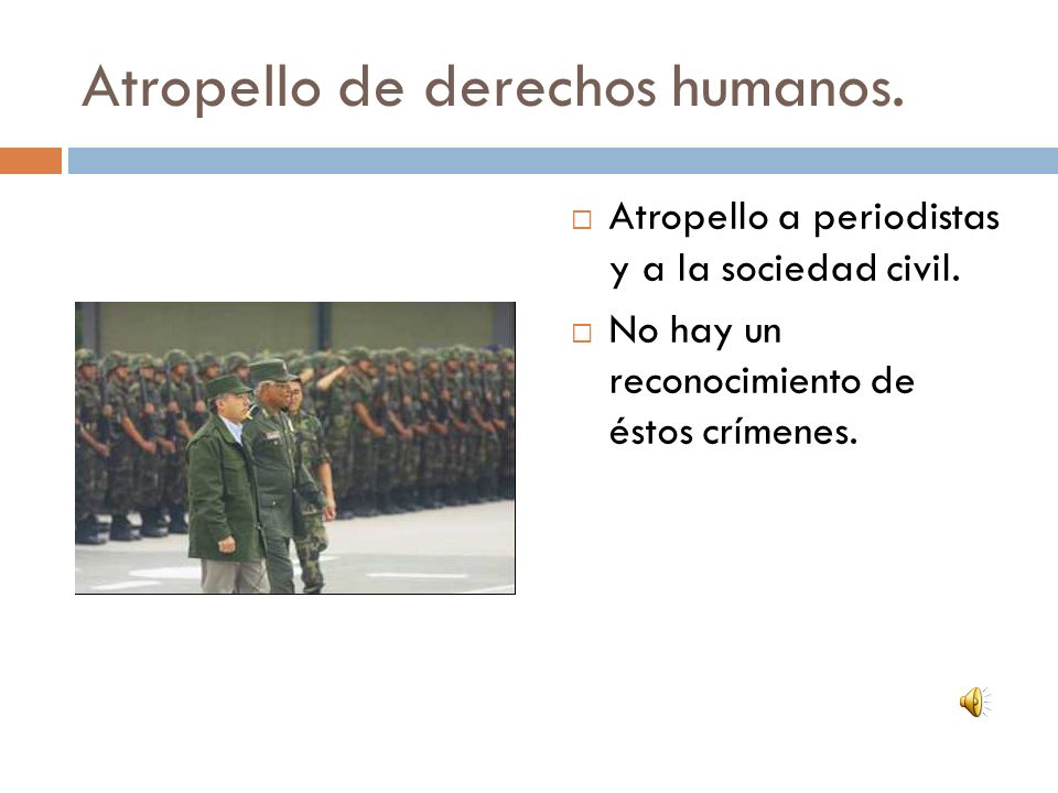 Atropello de derechos humanos.