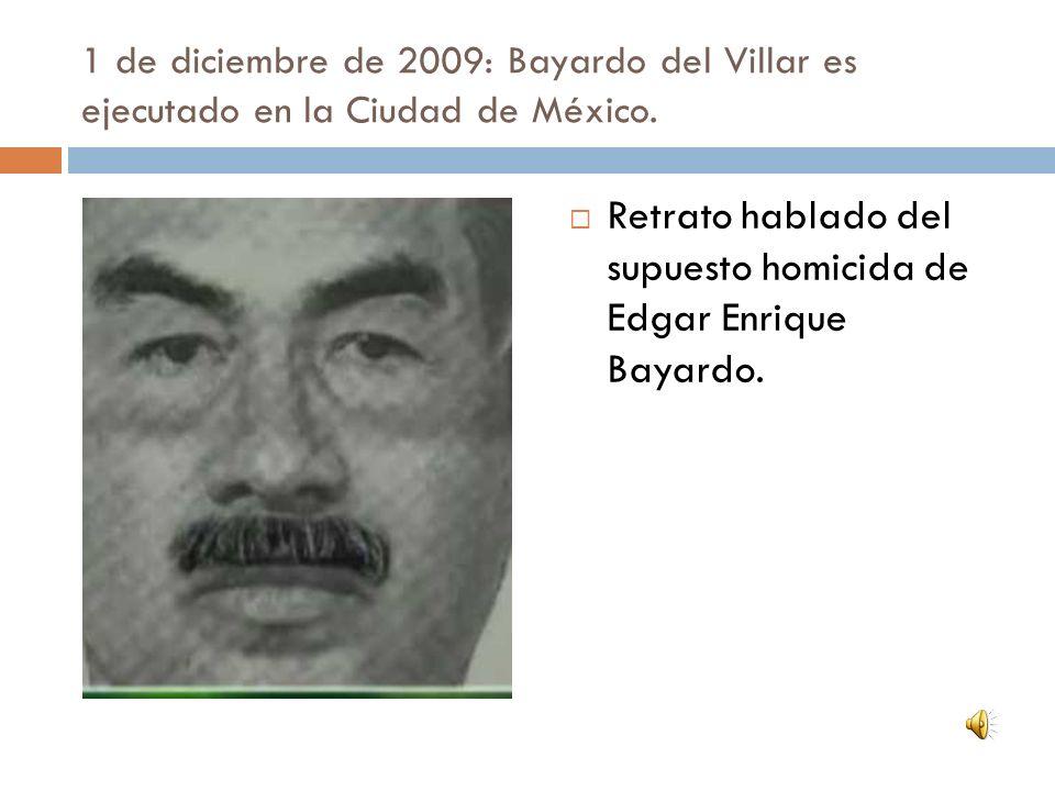 Retrato hablado del supuesto homicida de Edgar Enrique Bayardo.