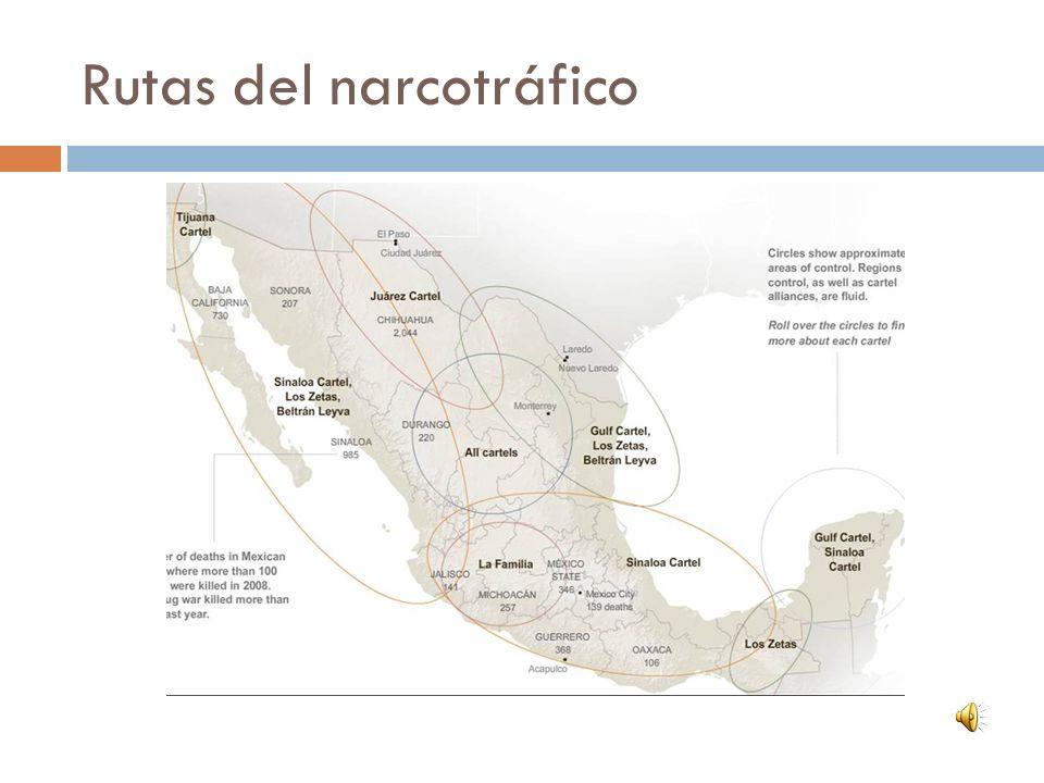 Rutas del narcotráfico