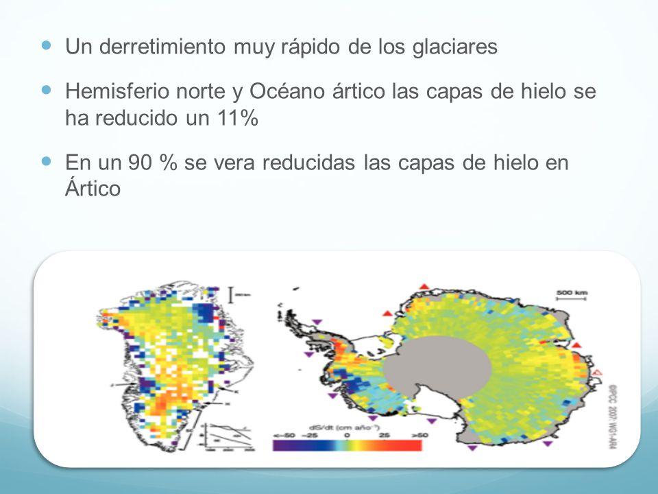 Un derretimiento muy rápido de los glaciares