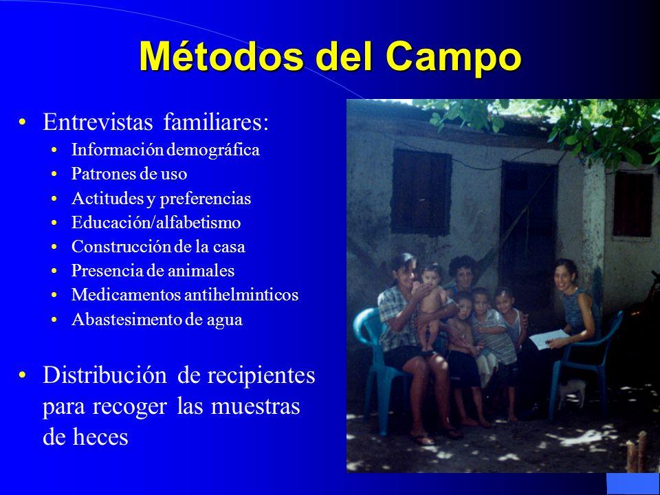 Métodos del Campo Entrevistas familiares: Distribución de recipientes