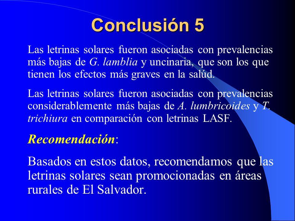 Conclusión 5 Recomendación: