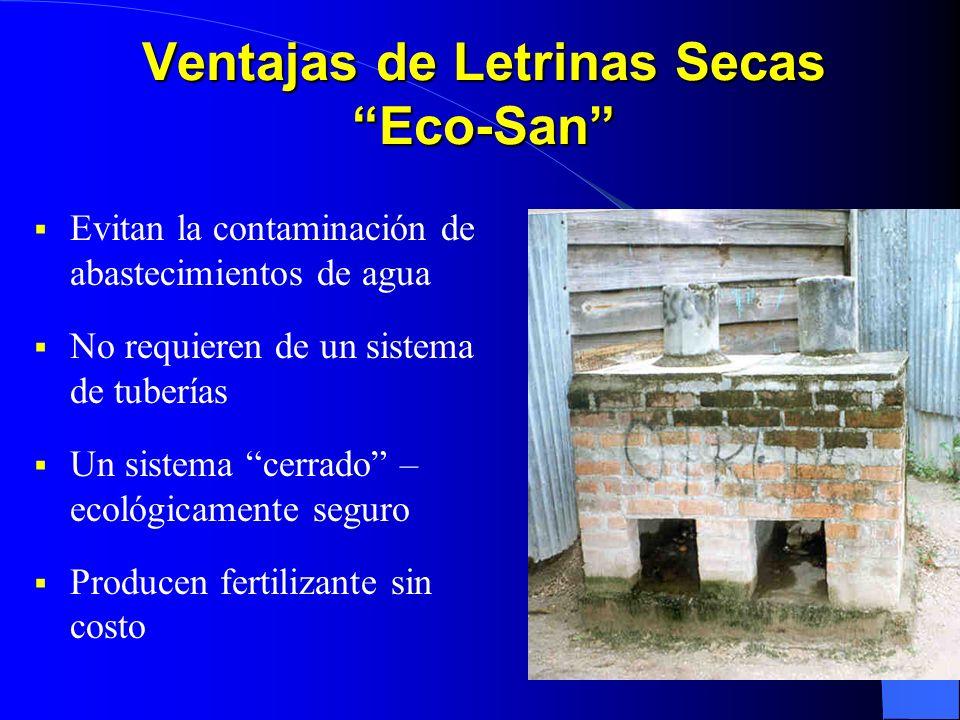 Ventajas de Letrinas Secas Eco-San