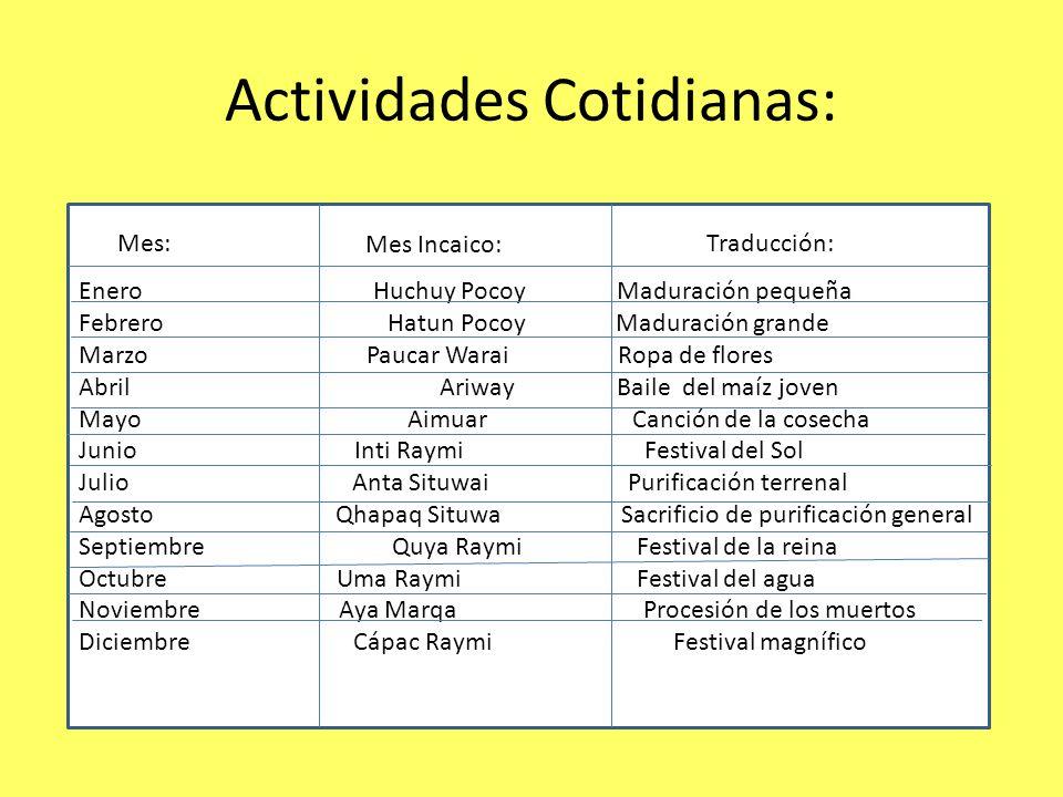 Actividades Cotidianas:
