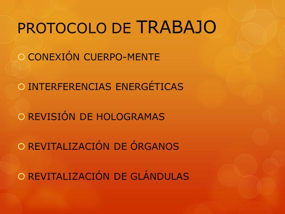 PROTOCOLO DE TRABAJO CONEXIÓN CUERPO-MENTE INTERFERENCIAS ENERGÉTICAS