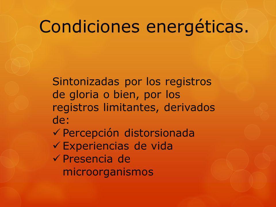 Condiciones energéticas.