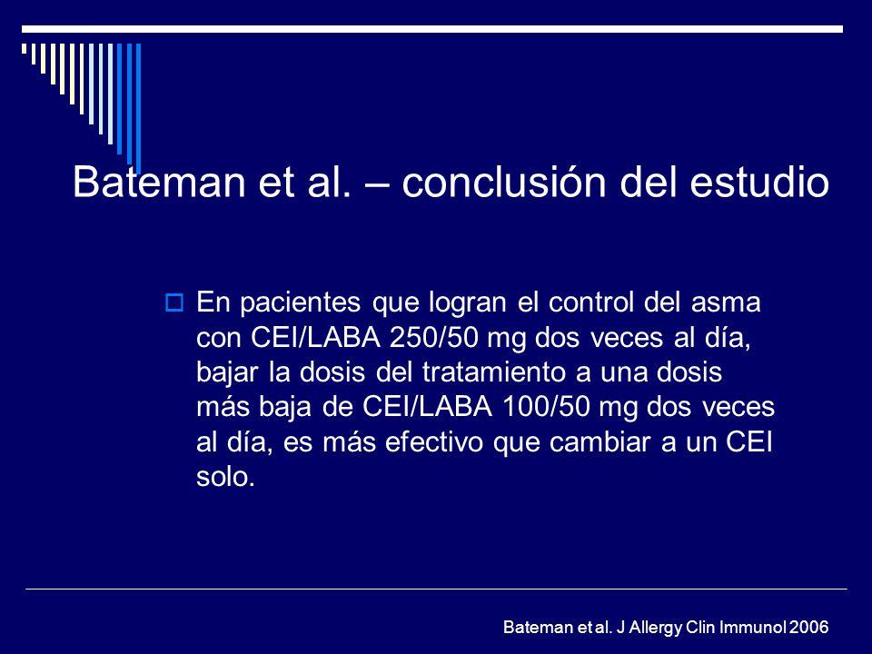 Bateman et al. – conclusión del estudio