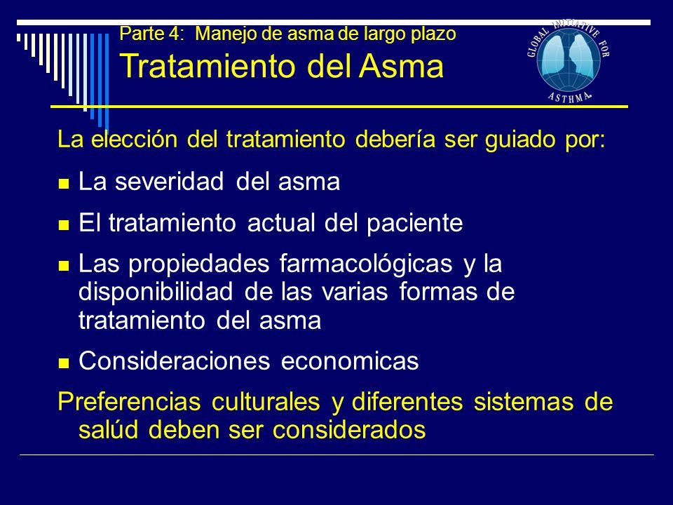 Tratamiento del Asma La severidad del asma