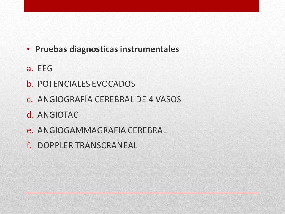 Pruebas diagnosticas instrumentales