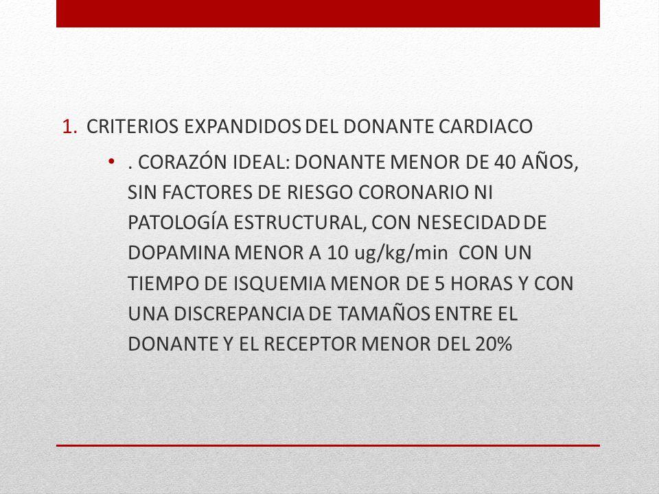 CRITERIOS EXPANDIDOS DEL DONANTE CARDIACO