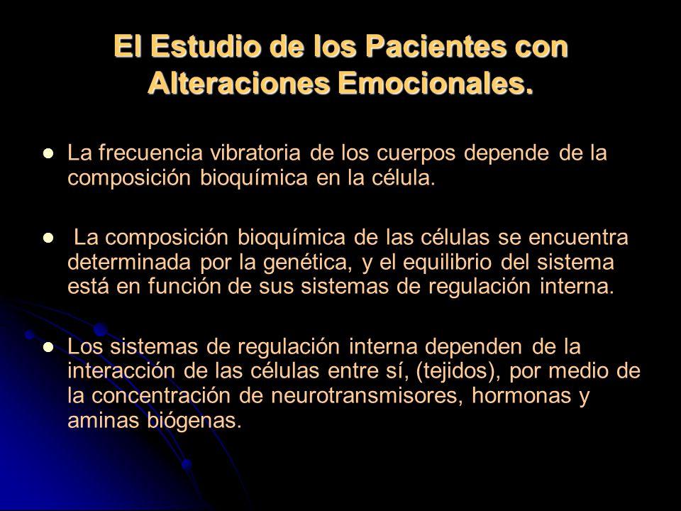 El Estudio de los Pacientes con Alteraciones Emocionales.