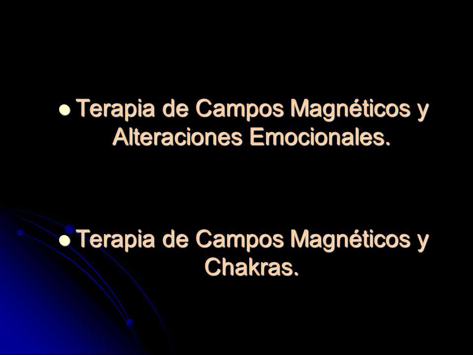 Terapia de Campos Magnéticos y Alteraciones Emocionales.