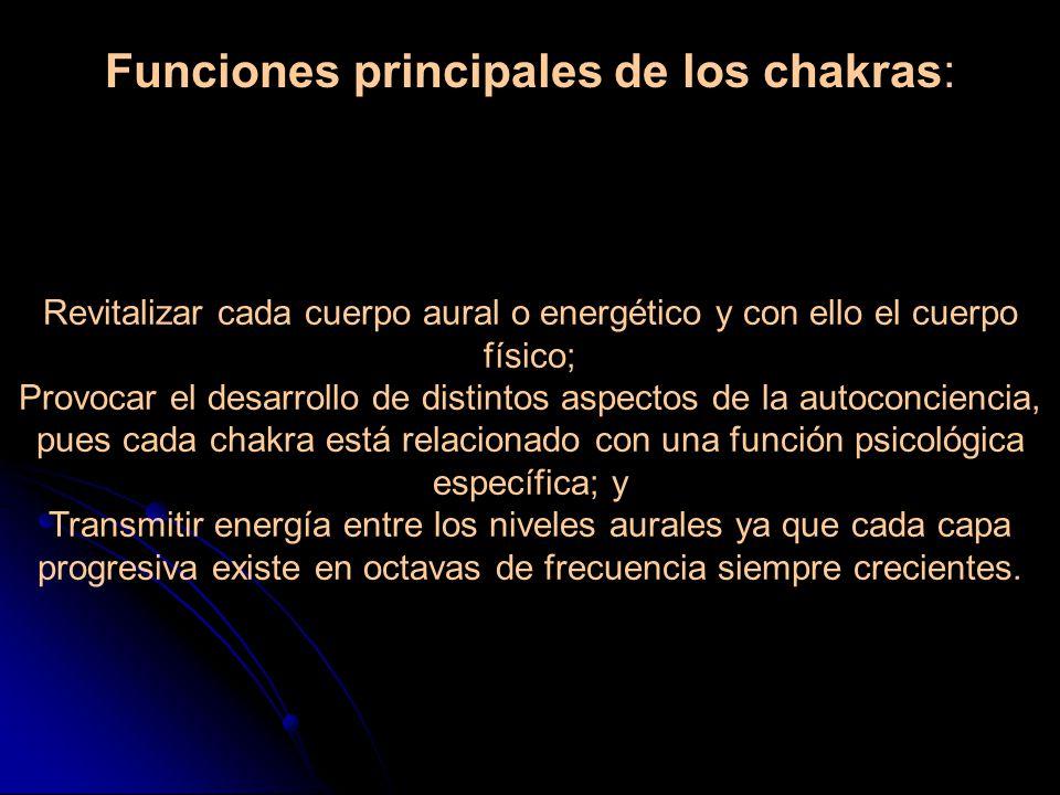 Funciones principales de los chakras: