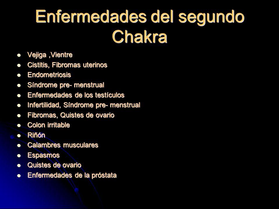 Enfermedades del segundo Chakra