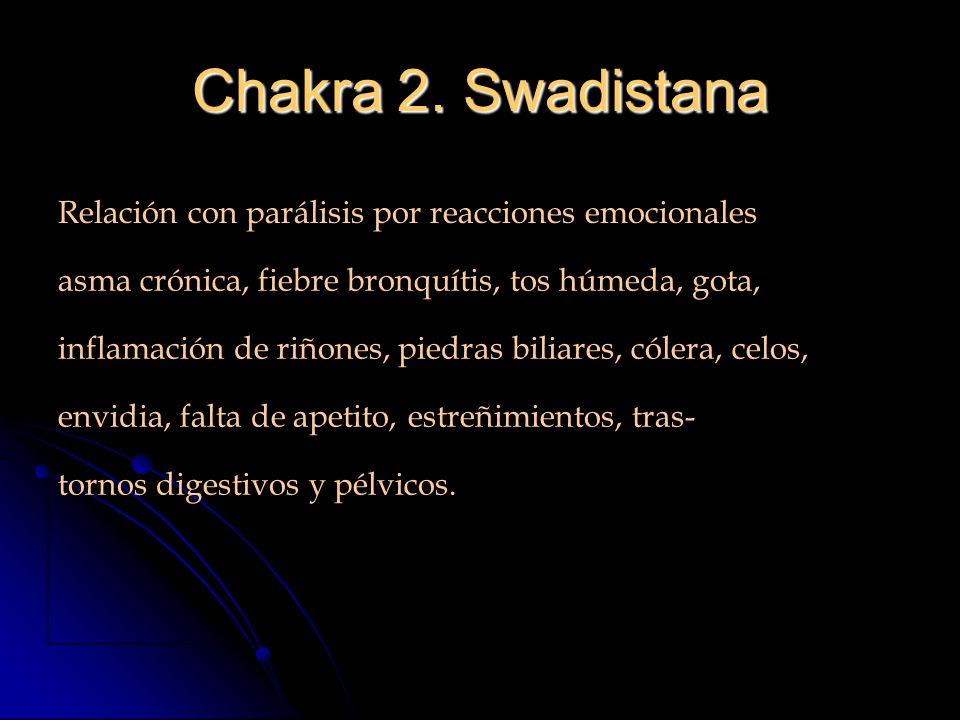 Chakra 2. Swadistana Relación con parálisis por reacciones emocionales