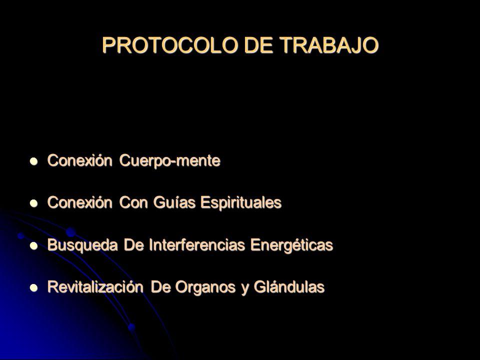 PROTOCOLO DE TRABAJO Conexión Cuerpo-mente