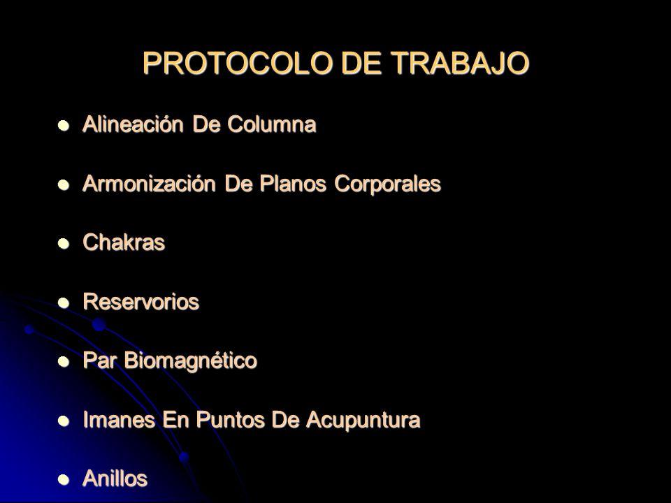 PROTOCOLO DE TRABAJO Alineación De Columna