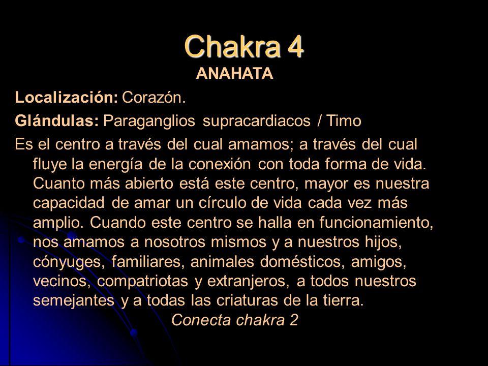 Chakra 4 Localización: Corazón.
