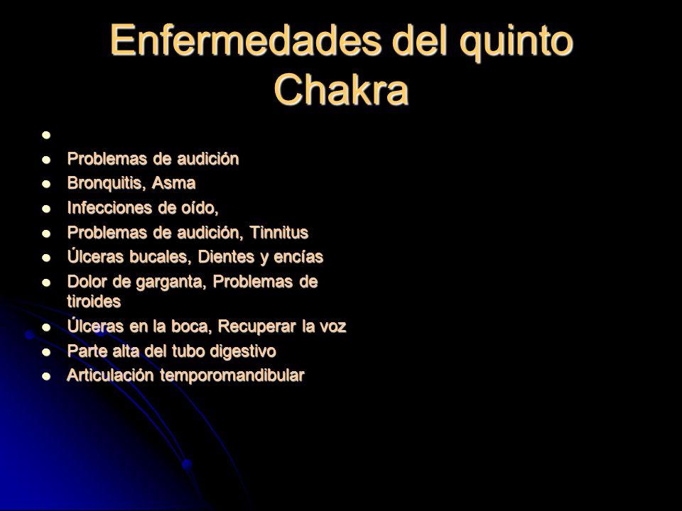 Enfermedades del quinto Chakra