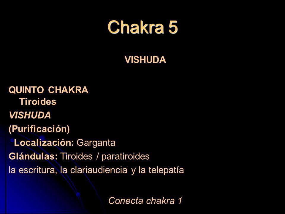 Chakra 5 QUINTO CHAKRA Tiroides (Purificación) VISHUDA