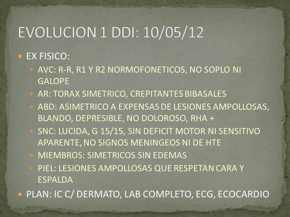 EVOLUCION 1 DDI: 10/05/12 EX FISICO: