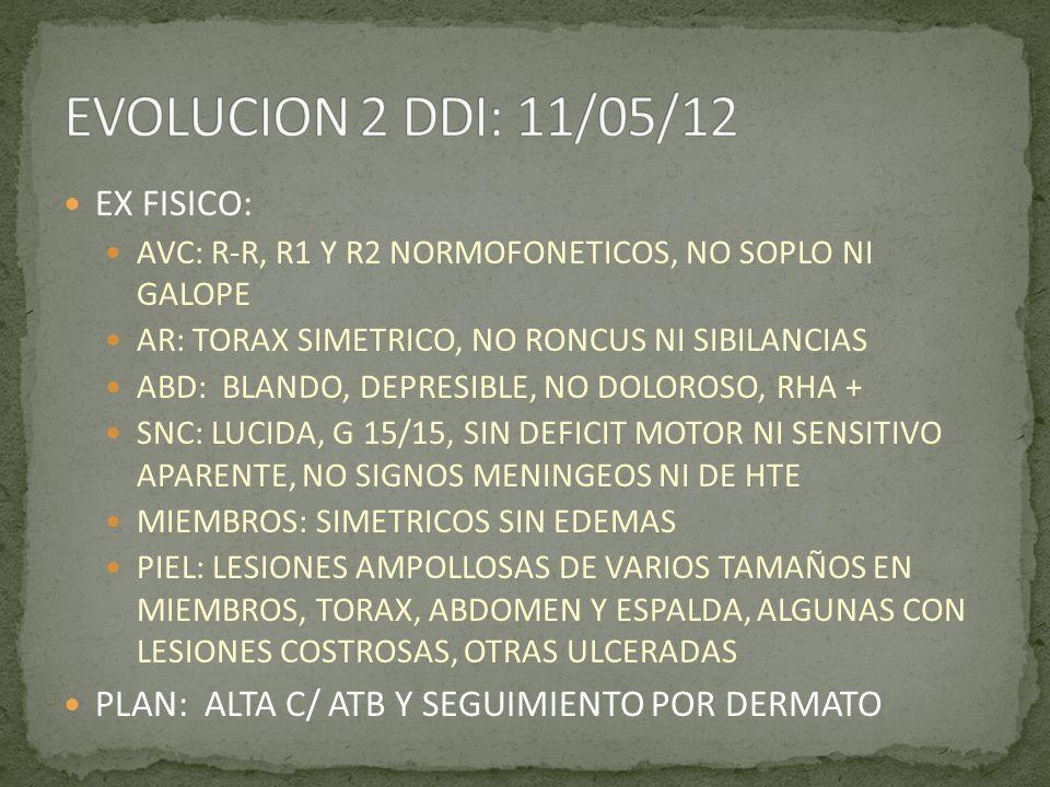 EVOLUCION 2 DDI: 11/05/12 EX FISICO: