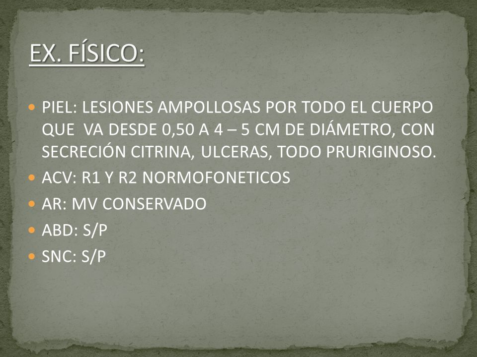 EX. FÍSICO: