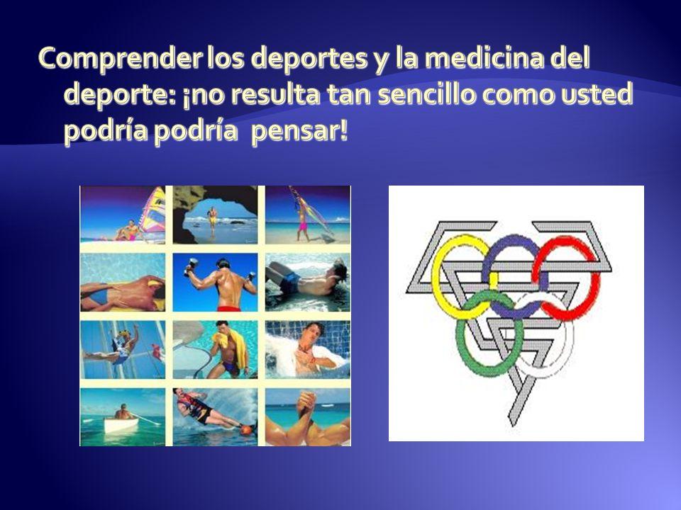 Comprender los deportes y la medicina del deporte: ¡no resulta tan sencillo como usted podría podría pensar!