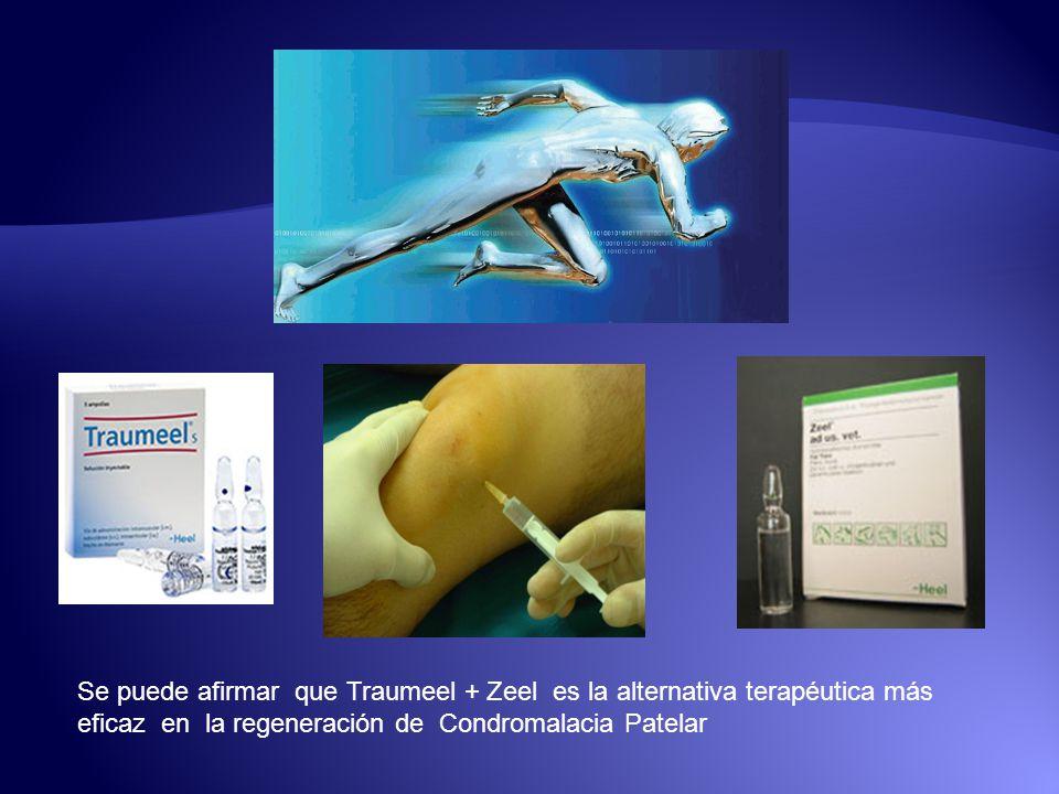 Se puede afirmar que Traumeel + Zeel es la alternativa terapéutica más eficaz en la regeneración de Condromalacia Patelar