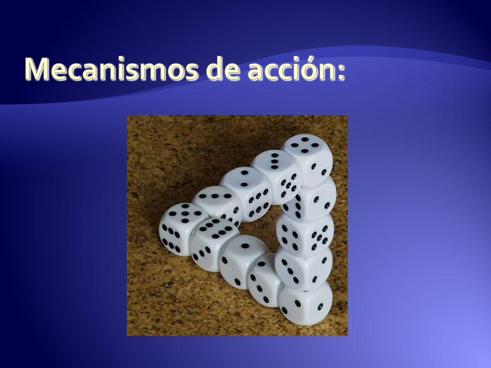 Mecanismos de acción: