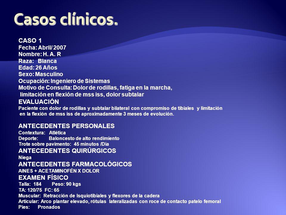 Casos clínicos. CASO 1 EVALUACIÓN ANTECEDENTES PERSONALES