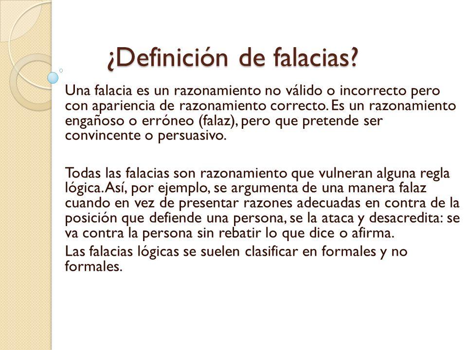 ¿Definición de falacias
