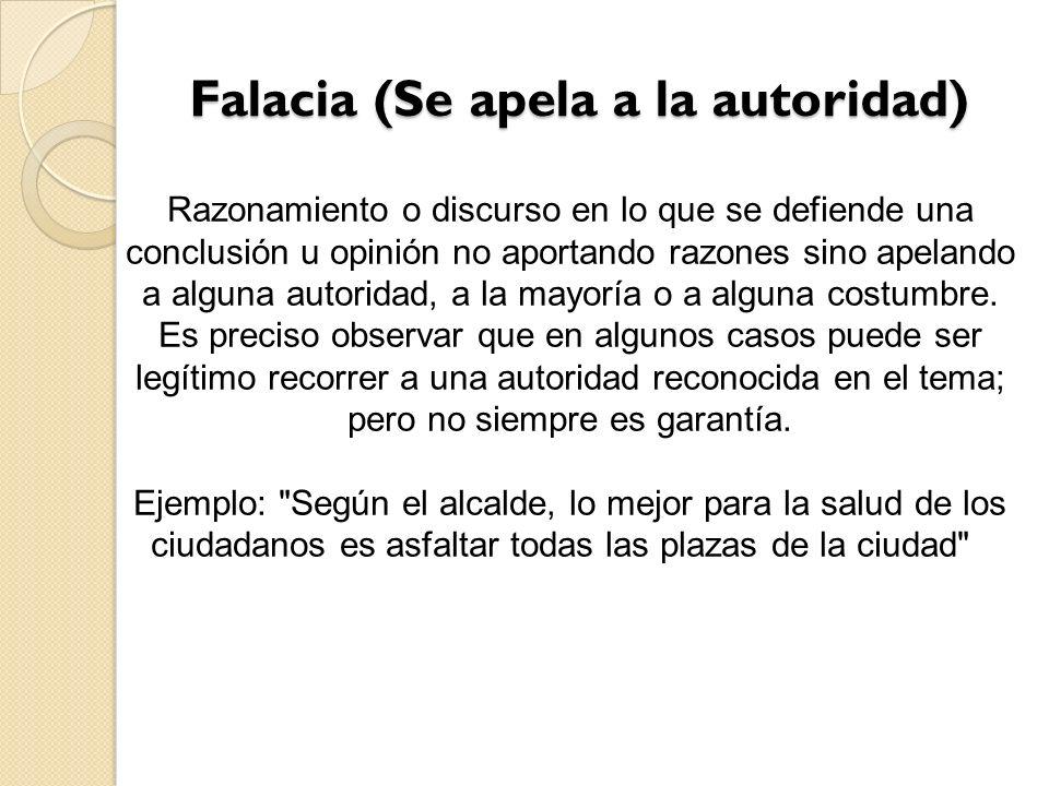 Falacia (Se apela a la autoridad)
