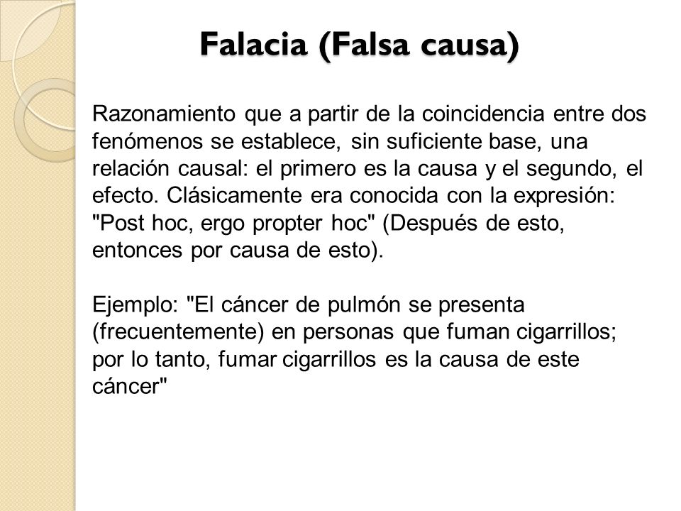 Falacia (Falsa causa)
