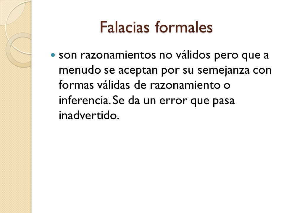 Falacias formales