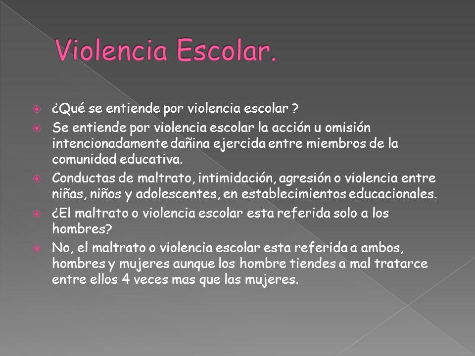Violencia Escolar. ¿Qué se entiende por violencia escolar