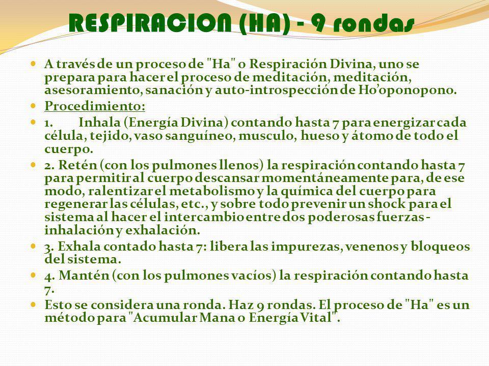 RESPIRACION (HA) - 9 rondas