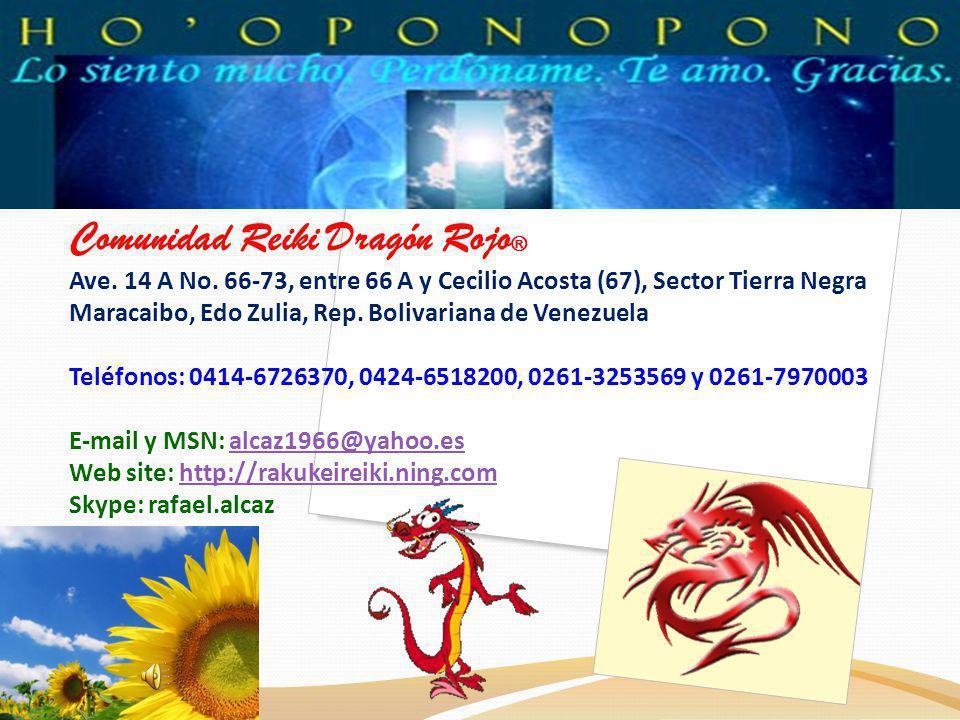 Comunidad Reiki Dragón Rojo® Ave. 14 A No