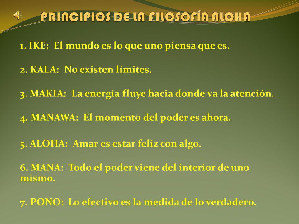 PRINCIPIOS DE LA FILOSOFÍA ALOHA