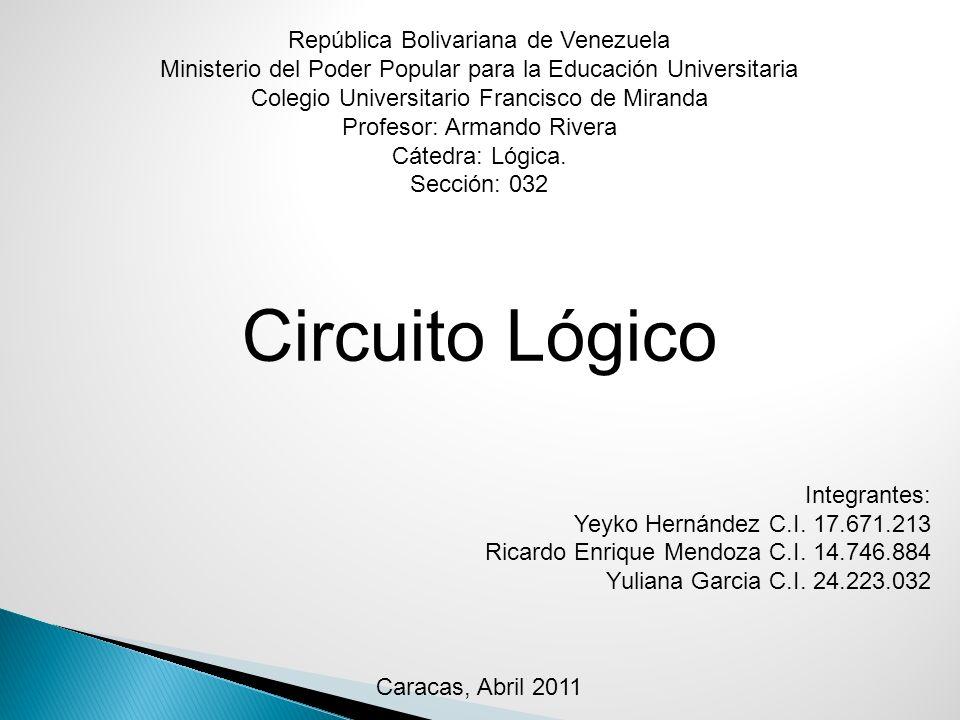 Circuito Lógico República Bolivariana de Venezuela