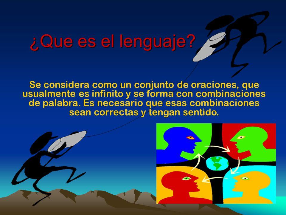 ¿Que es el lenguaje