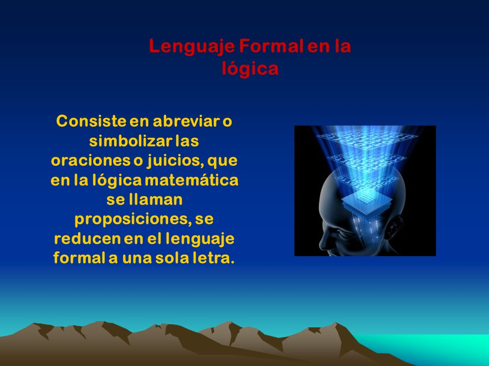Lenguaje Formal en la lógica