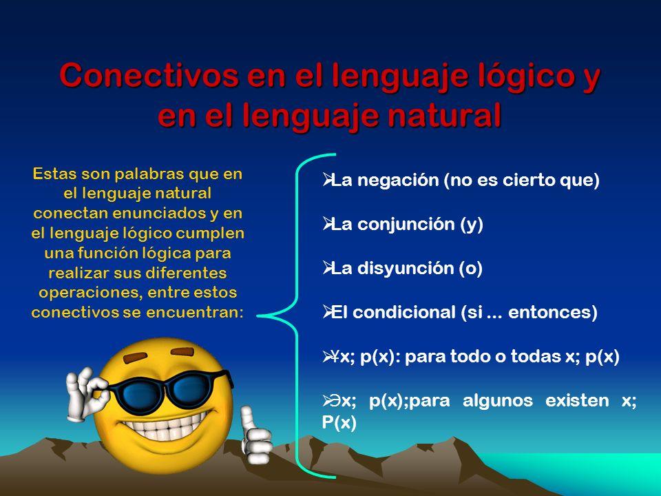 Conectivos en el lenguaje lógico y en el lenguaje natural